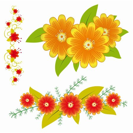 A collection of flowers for the design. Vector illustration. Vector art in Adobe illustrator EPS format, compressed in a zip file. The different graphics are all on separate layers so they can easily be moved or edited individually. The document can be scaled to any size without loss of quality. Stock Photo - Budget Royalty-Free & Subscription, Code: 400-04847191