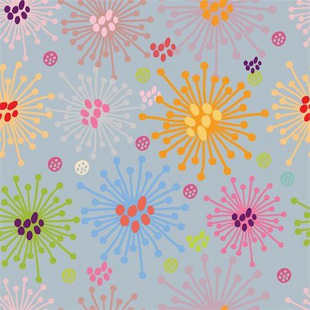 simsearch:400-04765926,k - Floral seamless pattern in vector Stock Photo - Budget Royalty-Free & Subscription, Code: 400-04848850