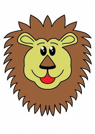 roar lion head picture - Illustration of a lions head Stock Photo - Budget Royalty-Free & Subscription, Code: 400-04848962