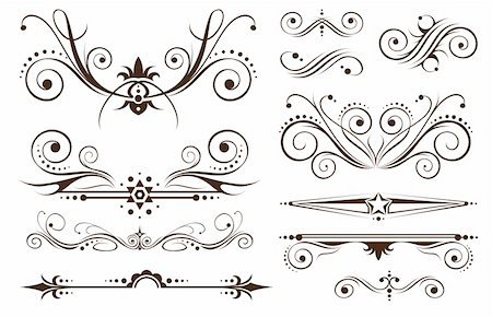 Ornament and Decoration for Borders on Classic Designs Stock Photo - Budget Royalty-Free & Subscription, Code: 400-04849326
