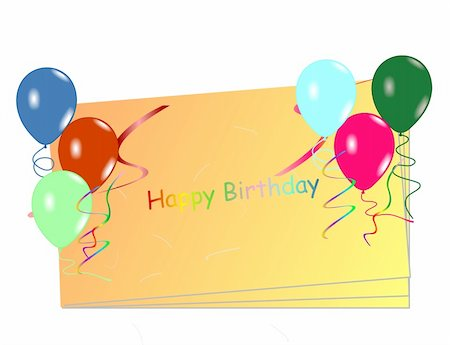 Beautiful celebration card with balloons. Vector Stock Photo - Budget Royalty-Free & Subscription, Code: 400-04849663
