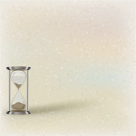 sand clock - abstract illustration with hourglass on beige background Stock Photo - Budget Royalty-Free & Subscription, Code: 400-04840122