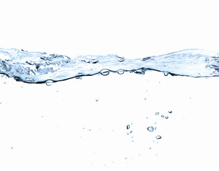 water surface isolated on white Stock Photo - Budget Royalty-Free & Subscription, Code: 400-04840377