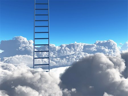 rolffimages (artist) - Ladder into sky Stock Photo - Budget Royalty-Free & Subscription, Code: 400-04841397