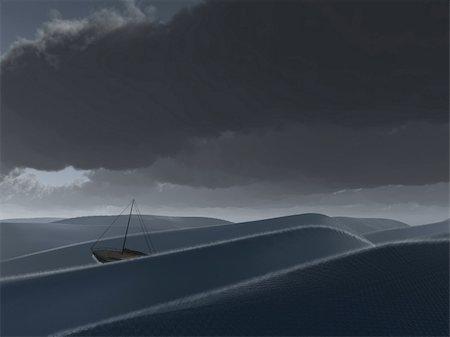 sailing boat storm - Ship at sea Stock Photo - Budget Royalty-Free & Subscription, Code: 400-04841402