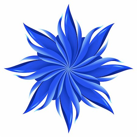 An abstract blue flower on white background. A highly useful art element. Stock Photo - Budget Royalty-Free & Subscription, Code: 400-04841918