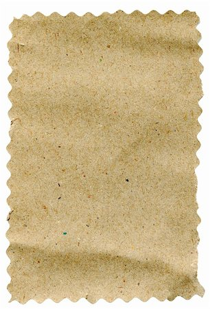 piece of brown paper isolated on white background Stock Photo - Budget Royalty-Free & Subscription, Code: 400-04843052