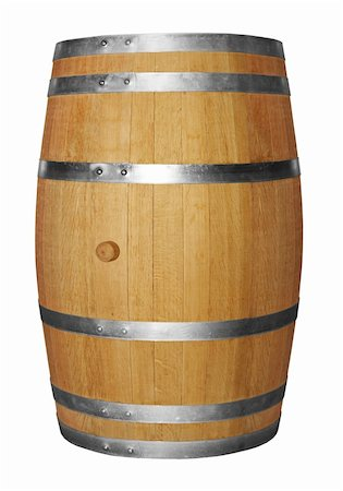 stave - Wooden barrel isolated on white background Stock Photo - Budget Royalty-Free & Subscription, Code: 400-04843364