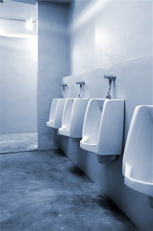 urinals at office Stock Photo - Budget Royalty-Free & Subscription, Code: 400-04843992