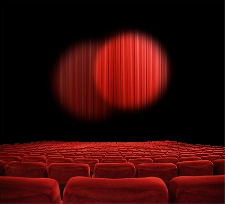 classic cinema with red seats Stock Photo - Budget Royalty-Free & Subscription, Code: 400-04854724