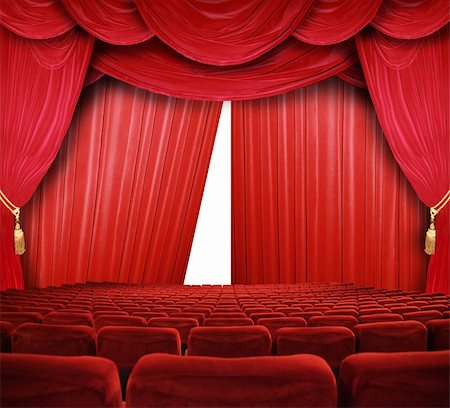 classic cinema with red seats Stock Photo - Budget Royalty-Free & Subscription, Code: 400-04854727