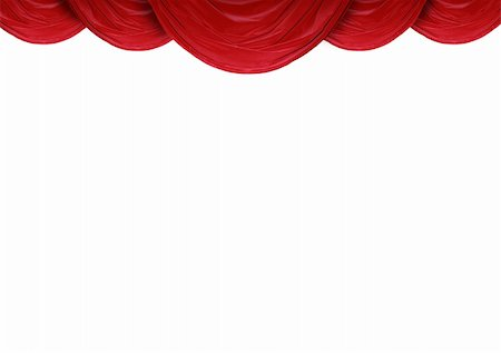 Red curtain of a classical theater Stock Photo - Budget Royalty-Free & Subscription, Code: 400-04854720