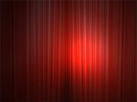 Red curtain of a classical theater Stock Photo - Budget Royalty-Free & Subscription, Code: 400-04854731