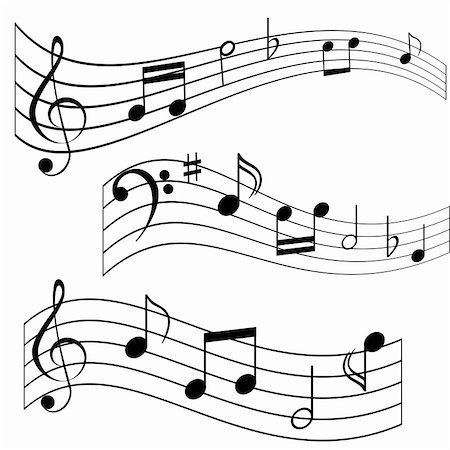 Musical notes on music sheet Stock Photo - Budget Royalty-Free & Subscription, Code: 400-04855148