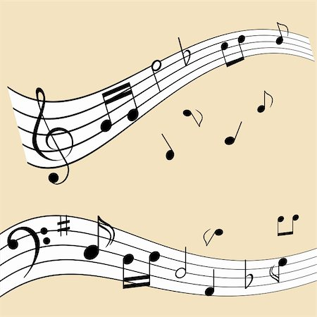 Musical notes on music sheet Stock Photo - Budget Royalty-Free & Subscription, Code: 400-04855178