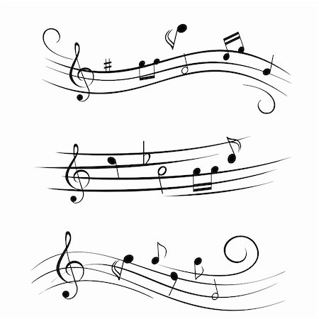 pic music note symbol - Various sheet music musical notes Stock Photo - Budget Royalty-Free & Subscription, Code: 400-04855203