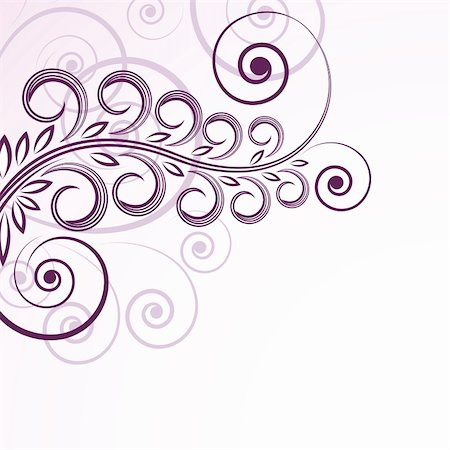 filigree tree - abstract floral curls. Stock Photo - Budget Royalty-Free & Subscription, Code: 400-04855476