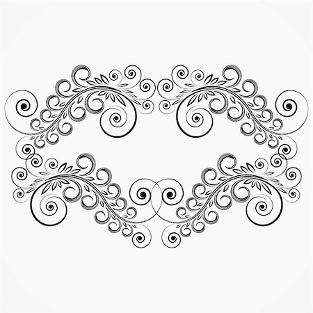 filigree tree - floral curls. vintage frame. Stock Photo - Budget Royalty-Free & Subscription, Code: 400-04855478