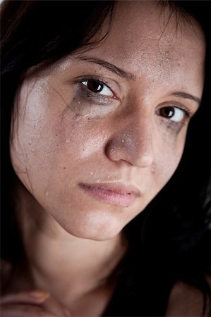 crying young woman, hostage closeup Stock Photo - Budget Royalty-Free & Subscription, Code: 400-04856873