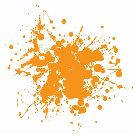 splats of paint - Abstract orange ink splat background with copyspace Stock Photo - Budget Royalty-Free & Subscription, Code: 400-04857064