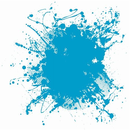 dripping splat - Grunge ink splat background blob with halftone dots Stock Photo - Budget Royalty-Free & Subscription, Code: 400-04857061