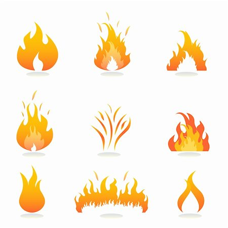 spark vector - Flames and fire signs and symbols Stock Photo - Budget Royalty-Free & Subscription, Code: 400-04859091