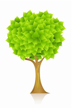 illustration of natural tree on isolated background Stock Photo - Budget Royalty-Free & Subscription, Code: 400-04859248