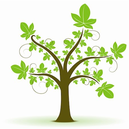 illustration of natural tree on white background Stock Photo - Budget Royalty-Free & Subscription, Code: 400-04859298
