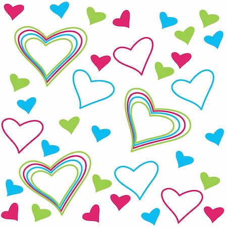 pattern of colored hearts for congratulations on Valentine's Day Stock Photo - Budget Royalty-Free & Subscription, Code: 400-04859564