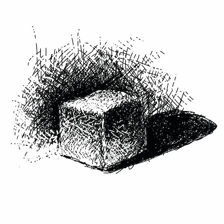 drawn curved - Hand drawn doodle cube. Vector illustration. Stock Photo - Budget Royalty-Free & Subscription, Code: 400-04859857