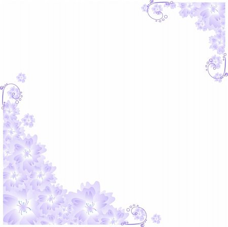 florist vector - Vector illustration of lilac angular frame Stock Photo - Budget Royalty-Free & Subscription, Code: 400-04859904
