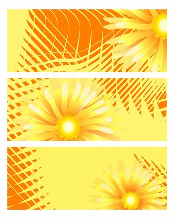 simsearch:400-04367215,k - Collection of sunny banners with golden flowers Stock Photo - Budget Royalty-Free & Subscription, Code: 400-04859918