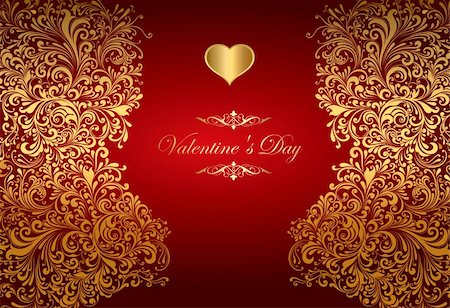 The Valentine's day. Beautiful background Stock Photo - Budget Royalty-Free & Subscription, Code: 400-04850618
