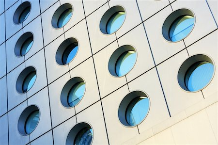 Windows of modern building toned in blue color Stock Photo - Budget Royalty-Free & Subscription, Code: 400-04853844