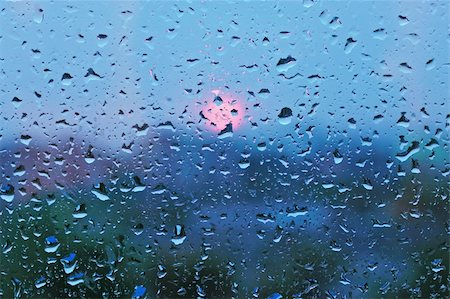 Drops on the glass from the rain Stock Photo - Budget Royalty-Free & Subscription, Code: 400-04866579