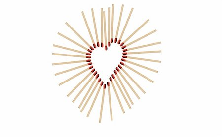 matchsticks in a row shows a heart-shape Stock Photo - Budget Royalty-Free & Subscription, Code: 400-04867555