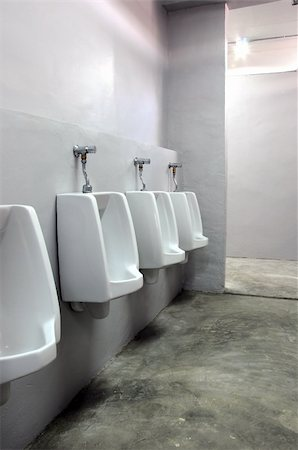 urinals at office Stock Photo - Budget Royalty-Free & Subscription, Code: 400-04867643