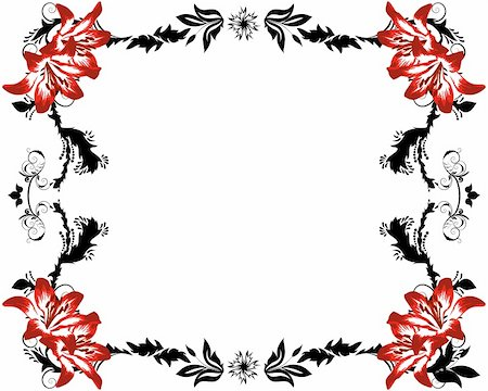 Abstract floral vector frame backgrounds  in Victorian style Stock Photo - Budget Royalty-Free & Subscription, Code: 400-04860864