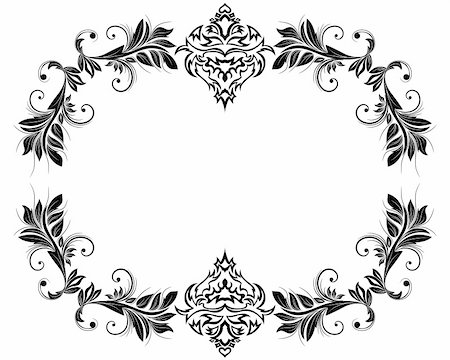 Abstract floral vector frame backgrounds  in Victorian style Stock Photo - Budget Royalty-Free & Subscription, Code: 400-04860865