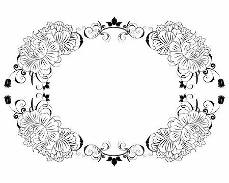 Abstract floral vector frame backgrounds  in Victorian style Stock Photo - Budget Royalty-Free & Subscription, Code: 400-04860863