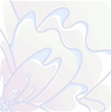 simsearch:400-04367215,k - Vector illustration of stylized flower of pastel shades Stock Photo - Budget Royalty-Free & Subscription, Code: 400-04860935