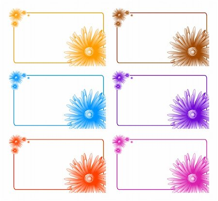 simsearch:400-04367218,k - Collection of colorful banners with floral decor Stock Photo - Budget Royalty-Free & Subscription, Code: 400-04860951