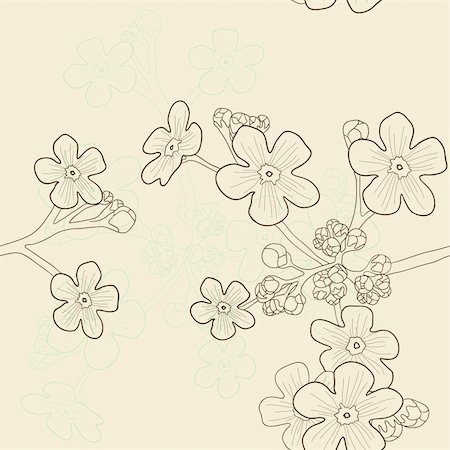 simsearch:400-04367215,k - Vector illustration of beige seamless pattern with forget-me-nots Stock Photo - Budget Royalty-Free & Subscription, Code: 400-04861062