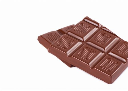 simsearch:400-04344039,k - Bar of chocolate isolated on the white Stock Photo - Budget Royalty-Free & Subscription, Code: 400-04861385