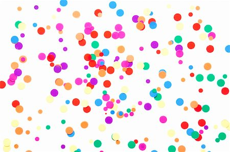 paper blower - colored round confetti spilled on white Stock Photo - Budget Royalty-Free & Subscription, Code: 400-04861761
