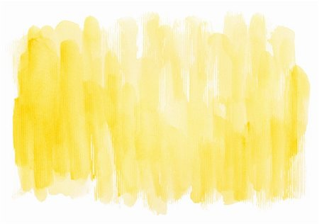 paint dripping graphic - Abstract yellow watercolor hand painted artistic background. Made myself. Stock Photo - Budget Royalty-Free & Subscription, Code: 400-04862179