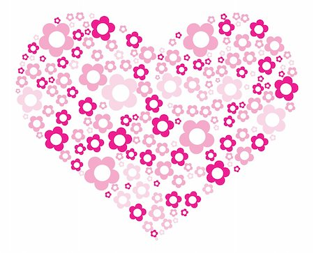 flower clipart paint - Vector illustration of painting pink heart Stock Photo - Budget Royalty-Free & Subscription, Code: 400-04862563