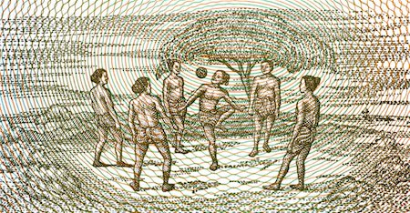Kids playing football on 5 kyats 1996 banknote from Myanmar Stock Photo - Budget Royalty-Free & Subscription, Code: 400-04862821