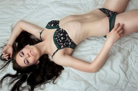 lying sensual beutiful girl in lingerie Stock Photo - Budget Royalty-Free & Subscription, Code: 400-04863372