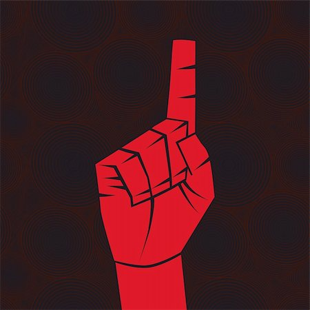 svetap (artist) - Number one sign. Index finger.Forefinger concept.Vector illustration. Element for design. Stock Photo - Budget Royalty-Free & Subscription, Code: 400-04863559